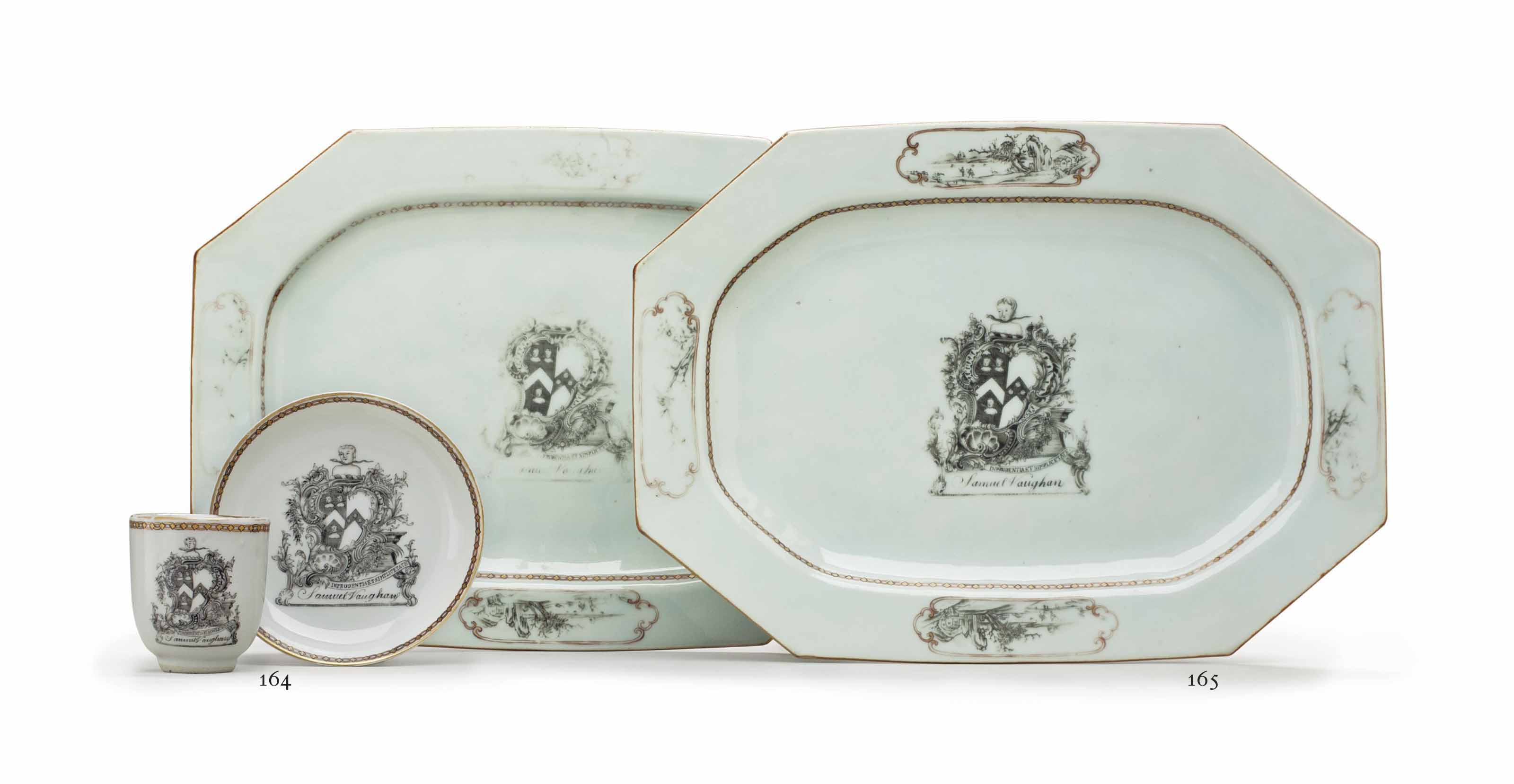 A GRISAILLE ARMORIAL CUP AND S