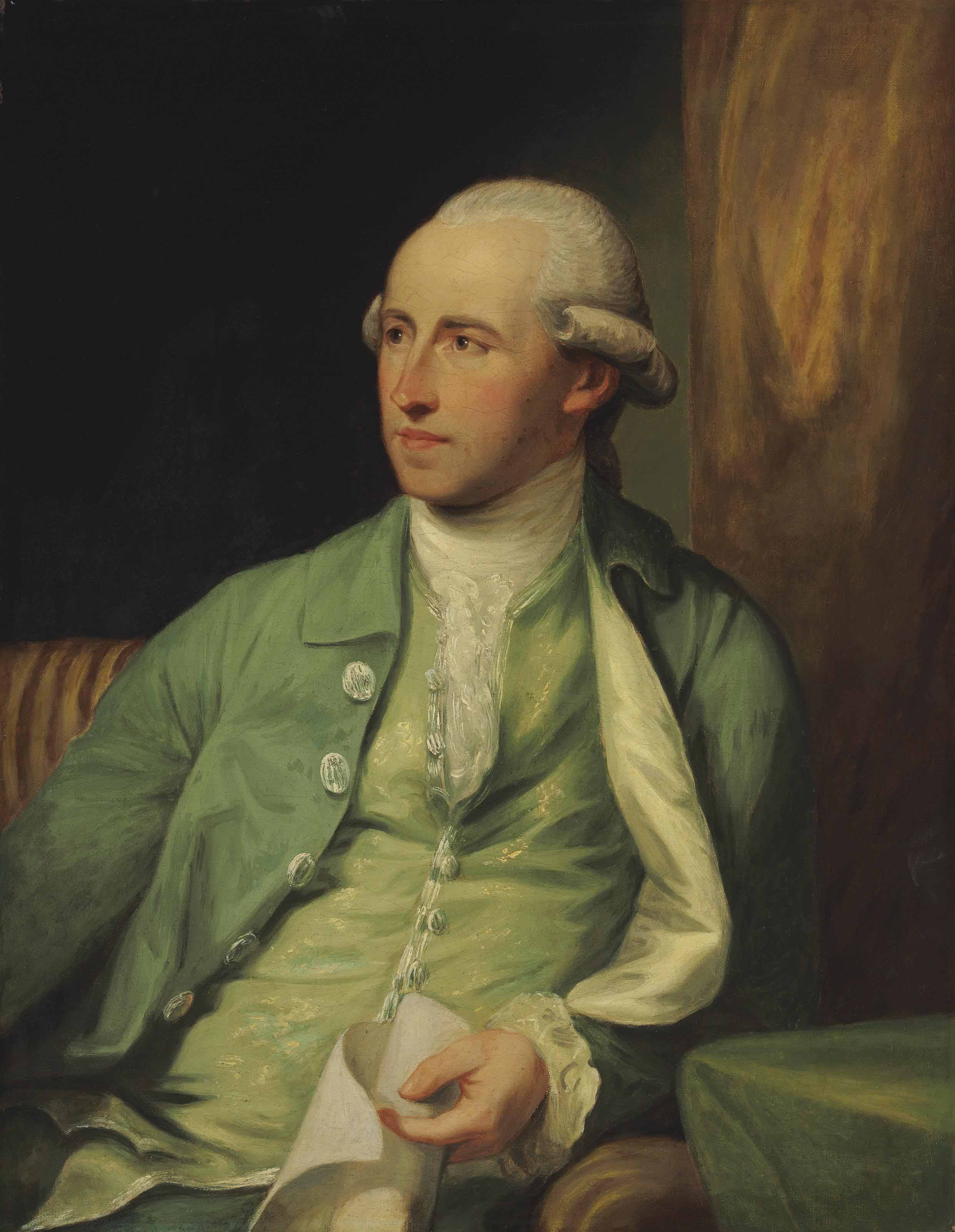 Portrait of Benjamin West, P.R.A., half-length