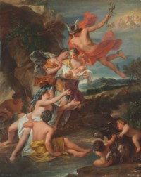 Mercury entrusting the infant Bacchus to the Nymphs of Nysa