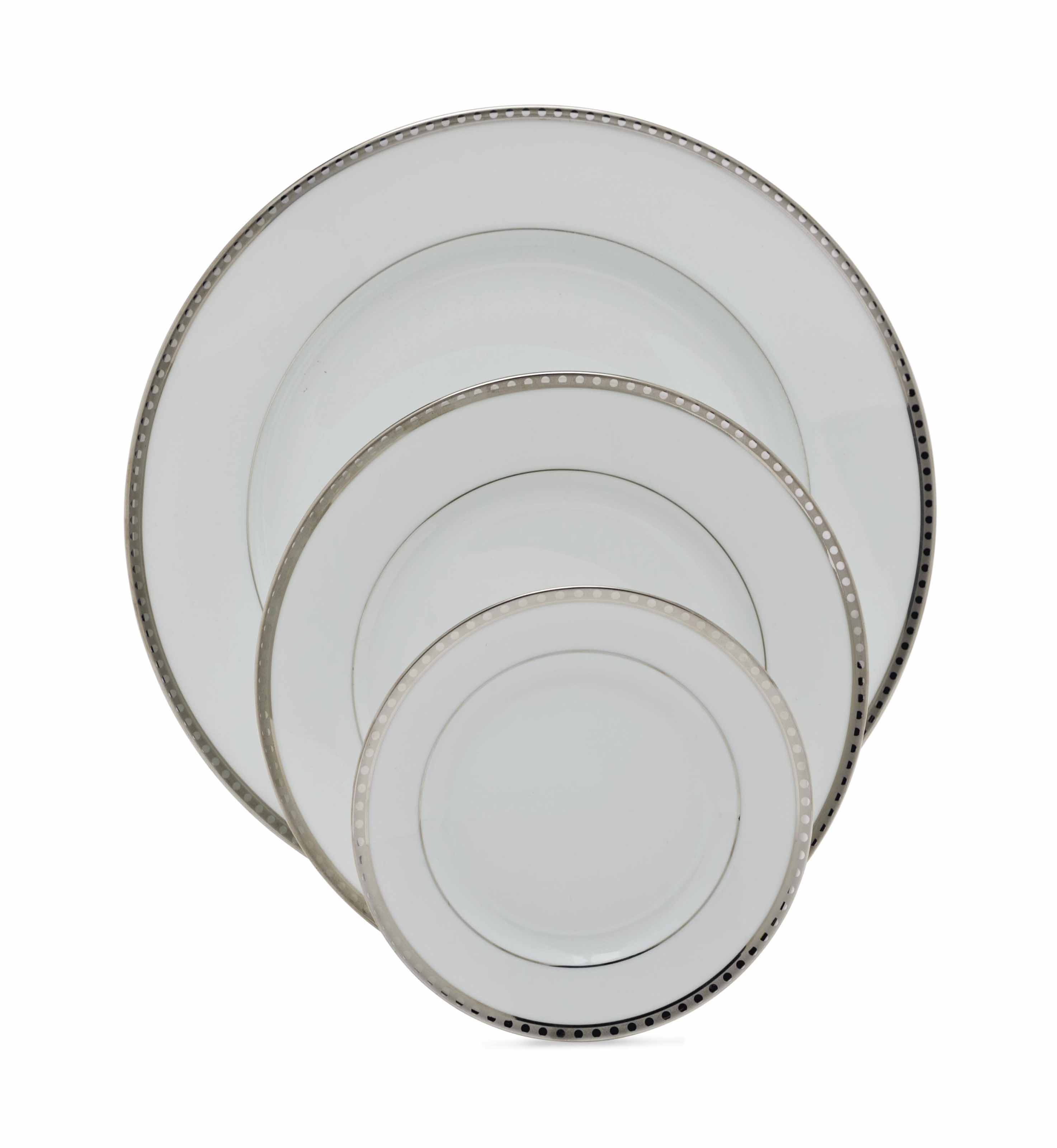 A FRENCH PORCELAIN PART DINNER SERVICE,