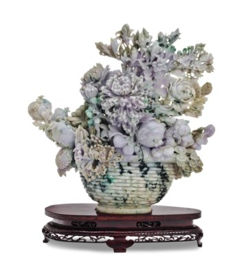 A CHINESE MOTTLED LAVENDER AND