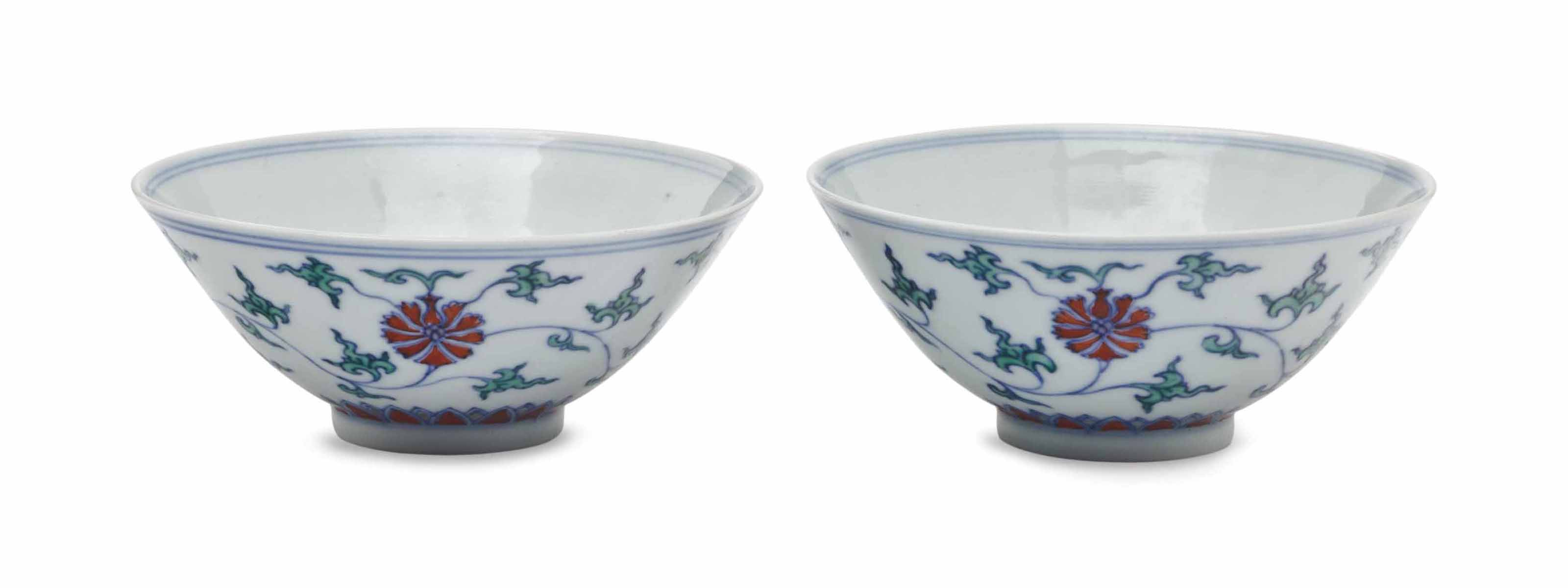A PAIR OF CHINESE SMALL DOUCAI