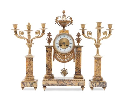 A LOUIS XVI STYLE MARBLE AND G