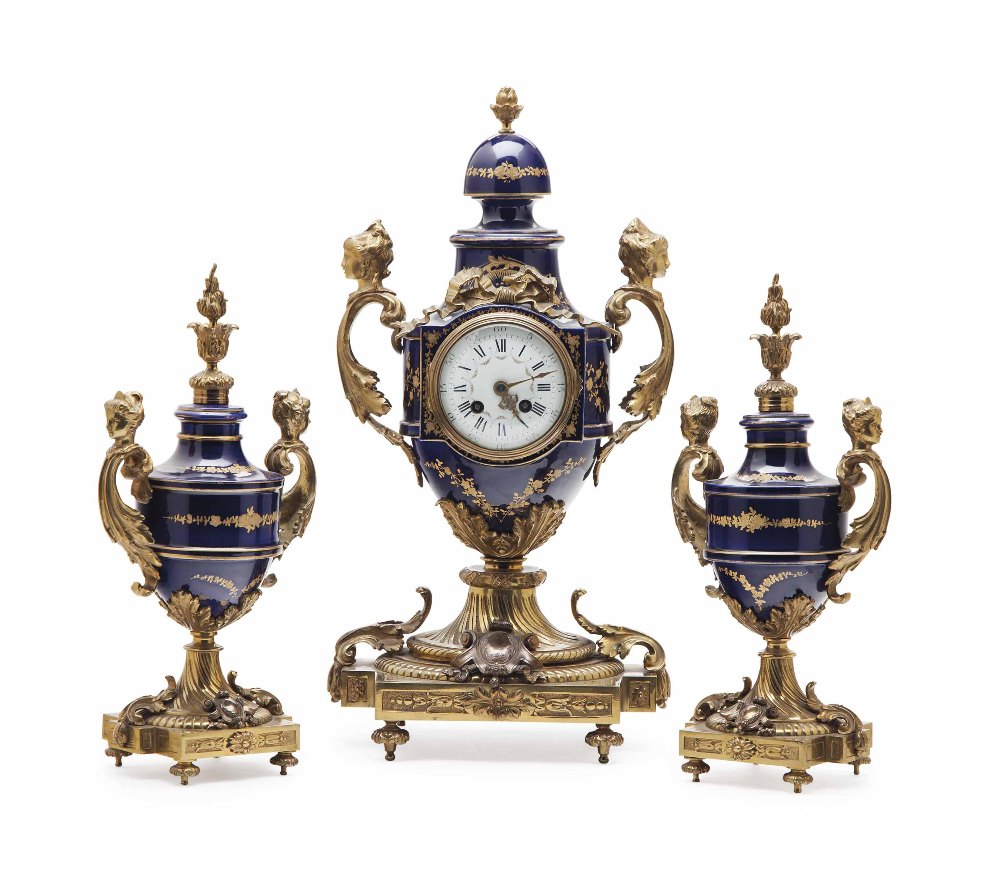 A LOUIS XVI STYLE COBALT AND P