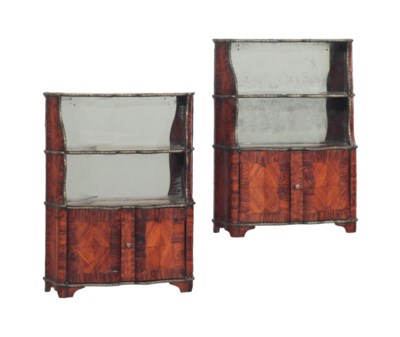 A PAIR OF CONTINENTAL GILT MET