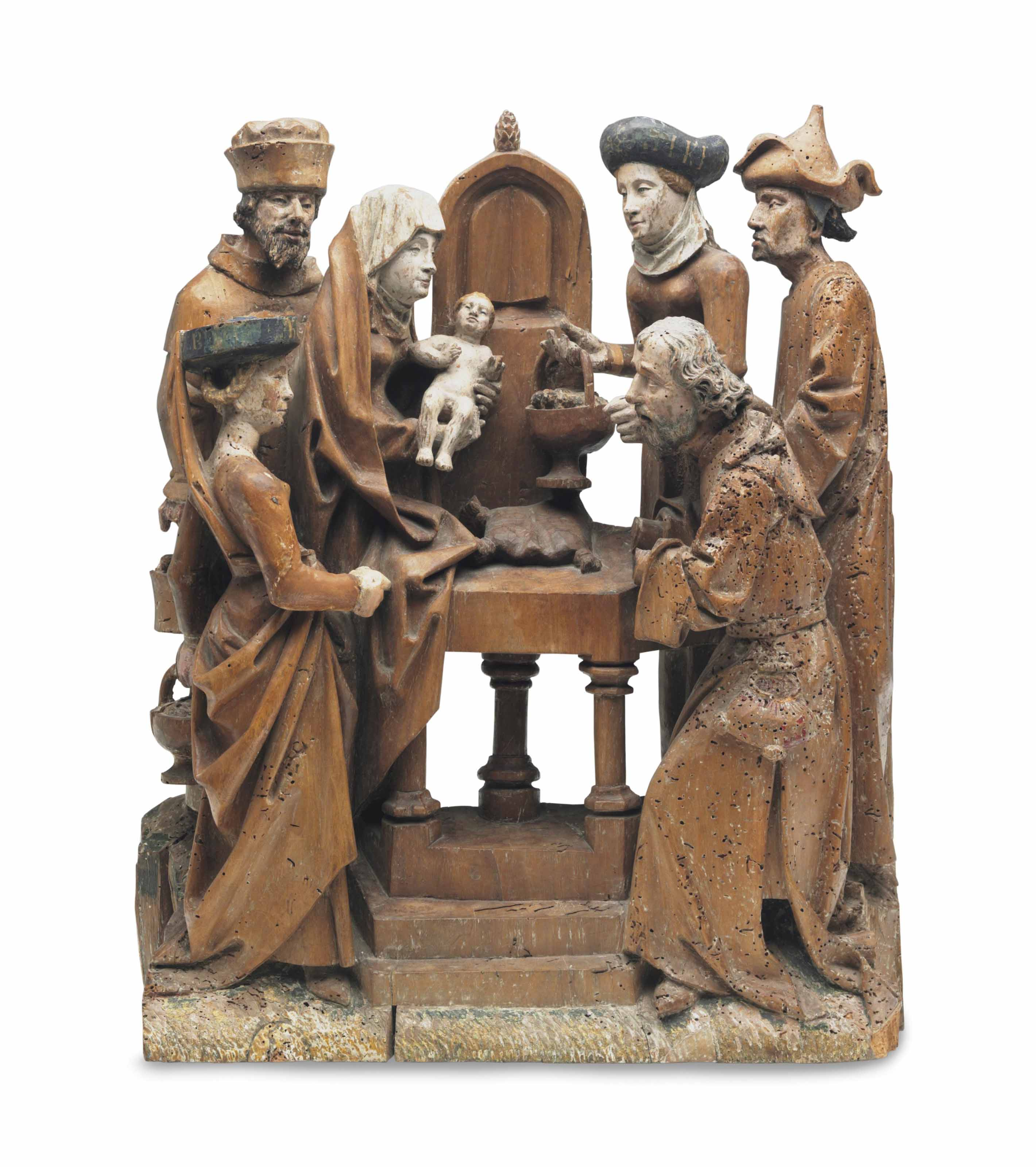A FLEMISH CARVED WALNUT RELIEF