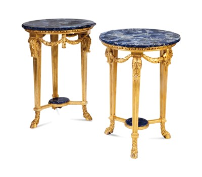 A PAIR OF LOUIS XVI STYLE GILT