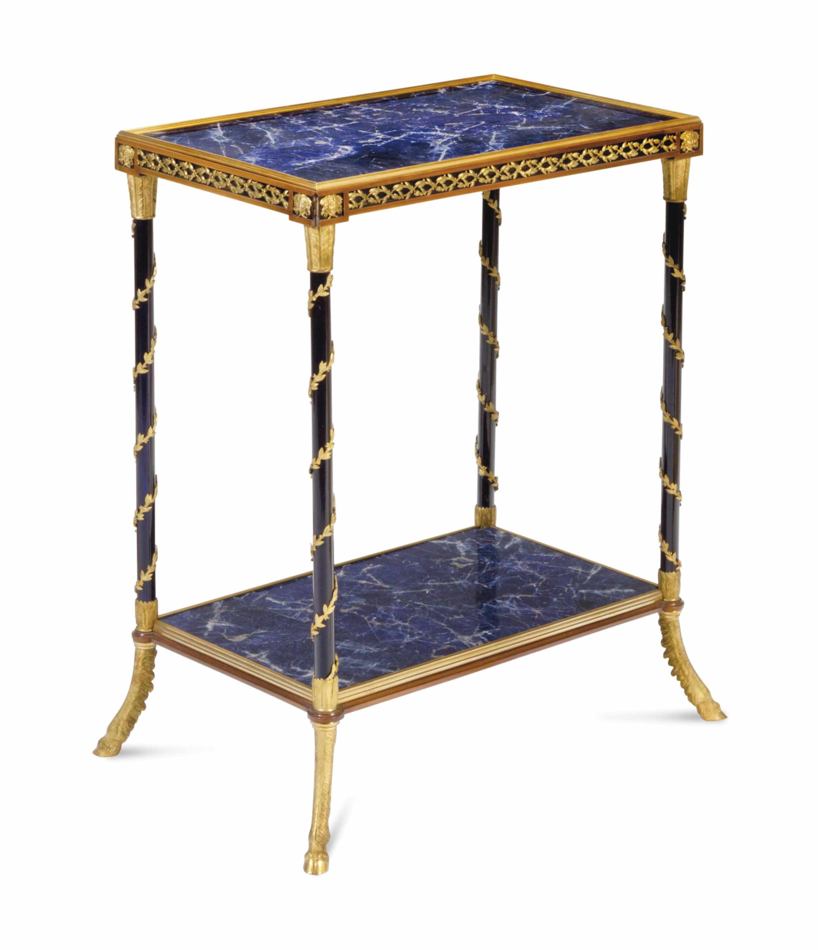 A FRENCH PATINATED AND GILT ME