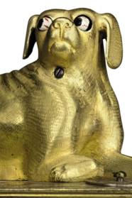 A GERMAN GILT-BRASS AND SILVER