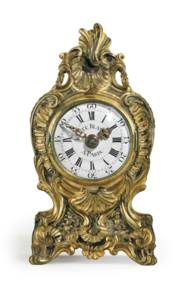 A FRENCH ORMOLU AND SILVERED Q