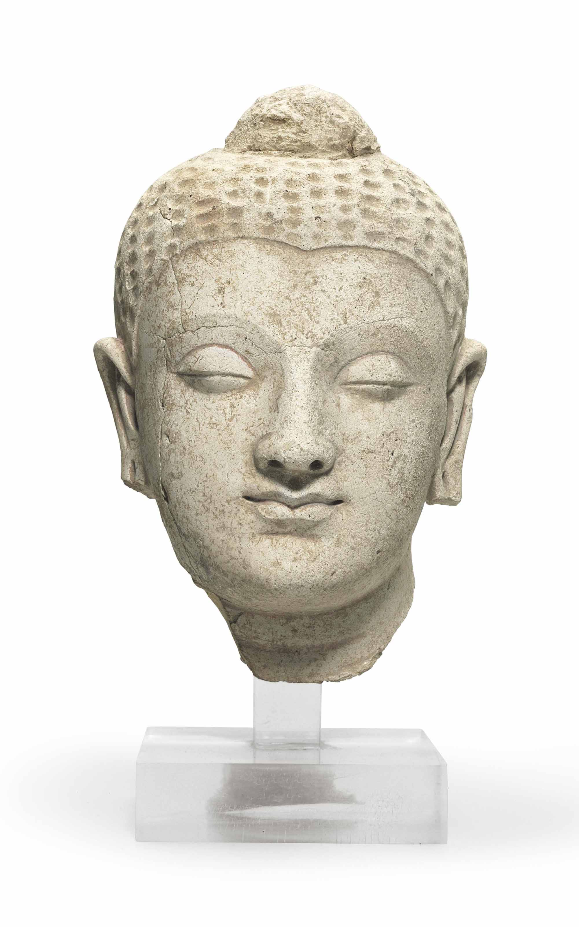 A Stucco Head Of Buddha Gandhara 4th 5th Century Gandhara Christie S