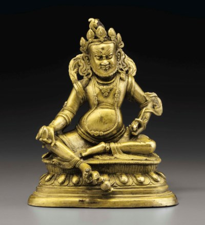 A GILT-BRONZE FIGURE OF VAISHR