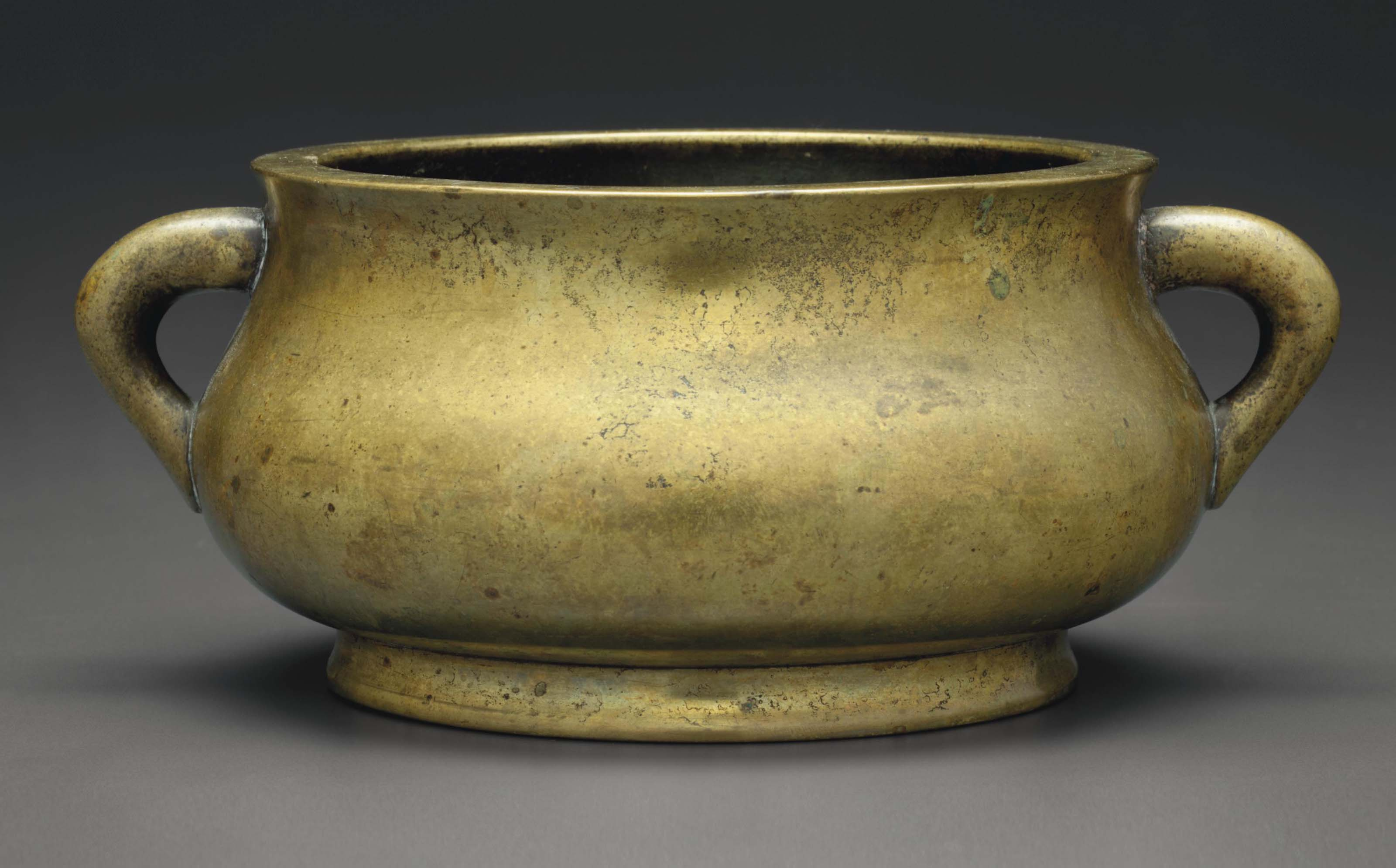 A GILT-BRONZE CENSER