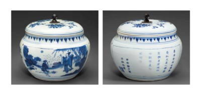 AN INSCRIBED AND DATED BLUE AN