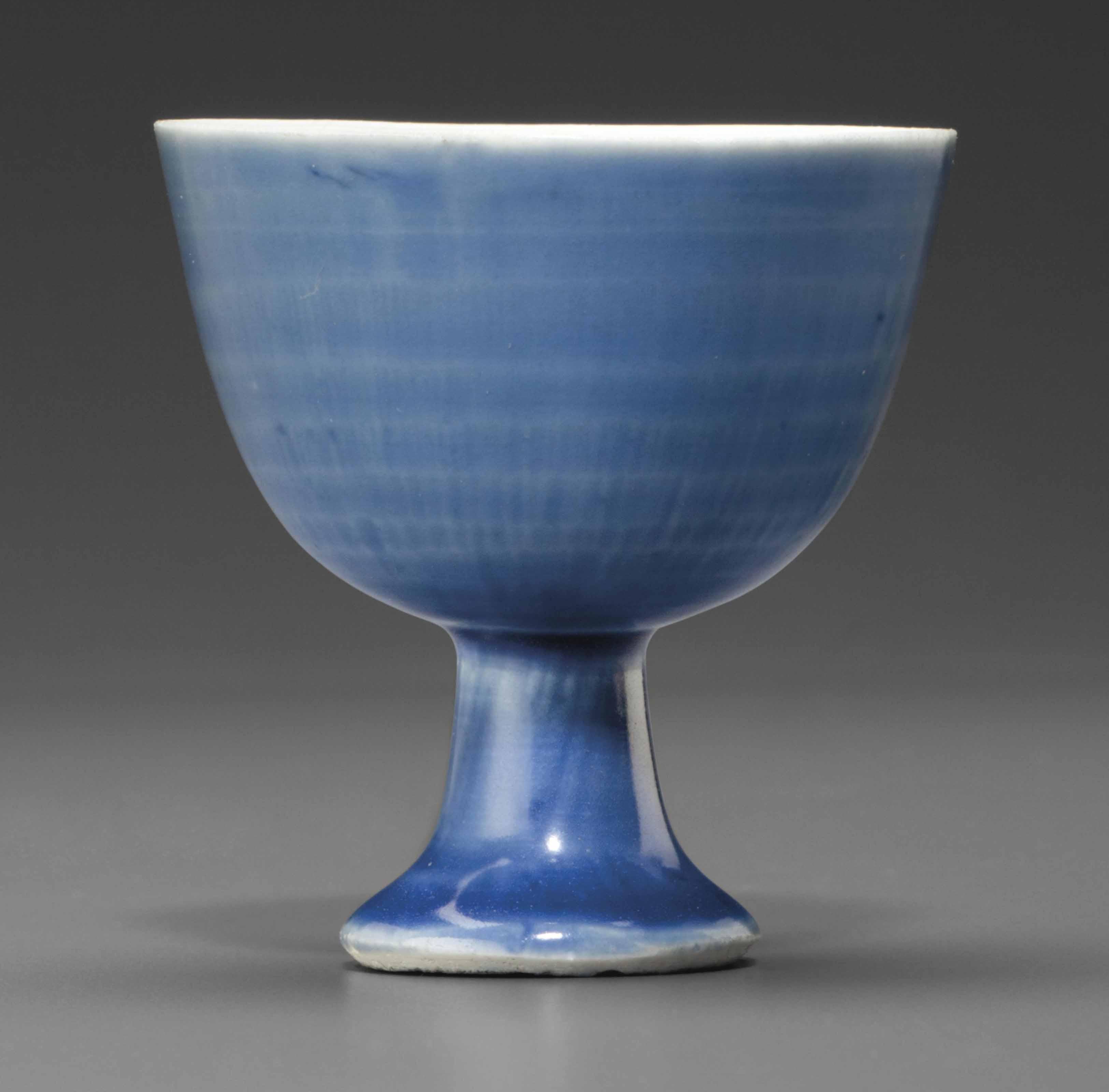 AN UNDERGLAZE-BLUE-GROUND WINE