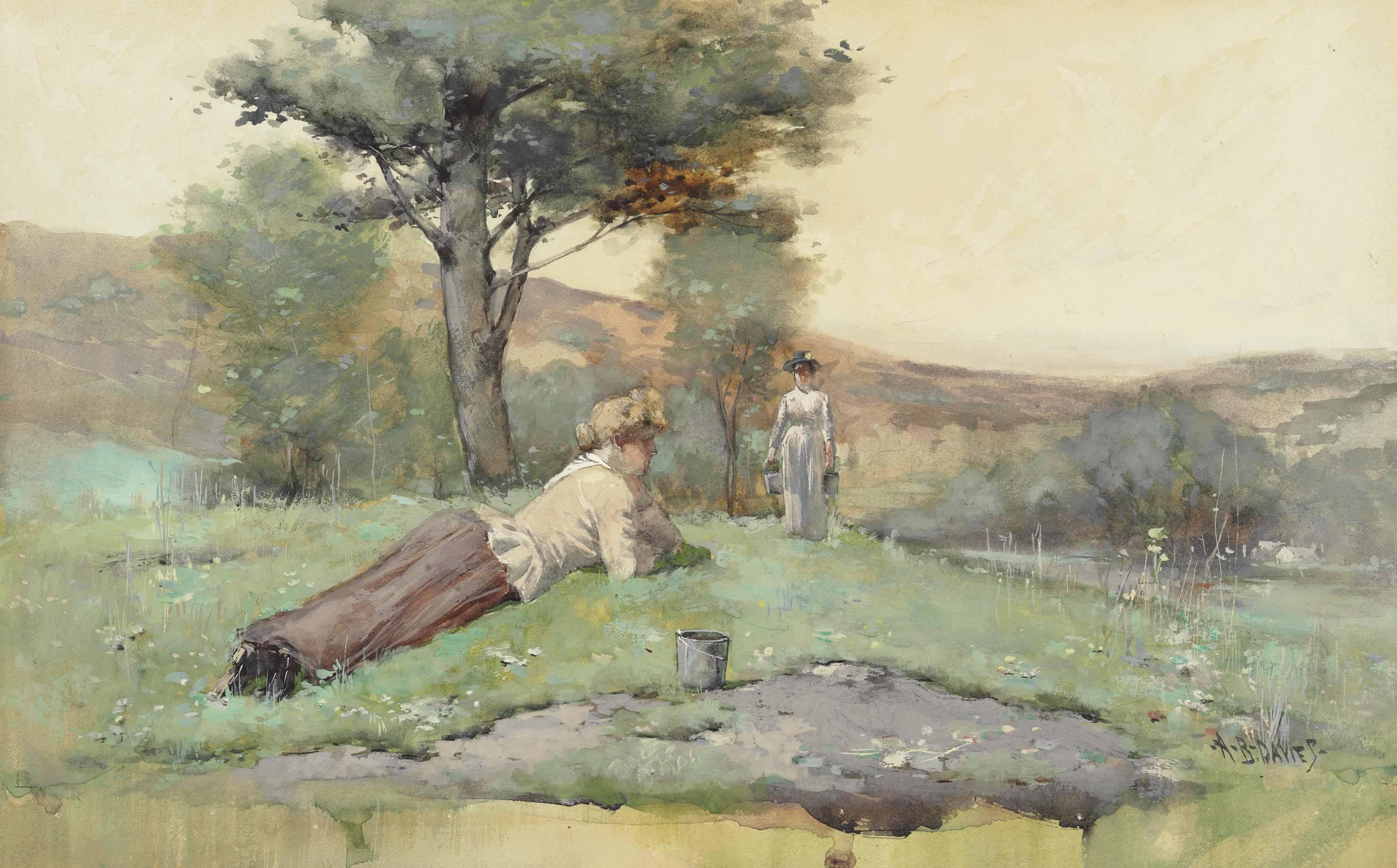 Figures in a Mohawk Landscape