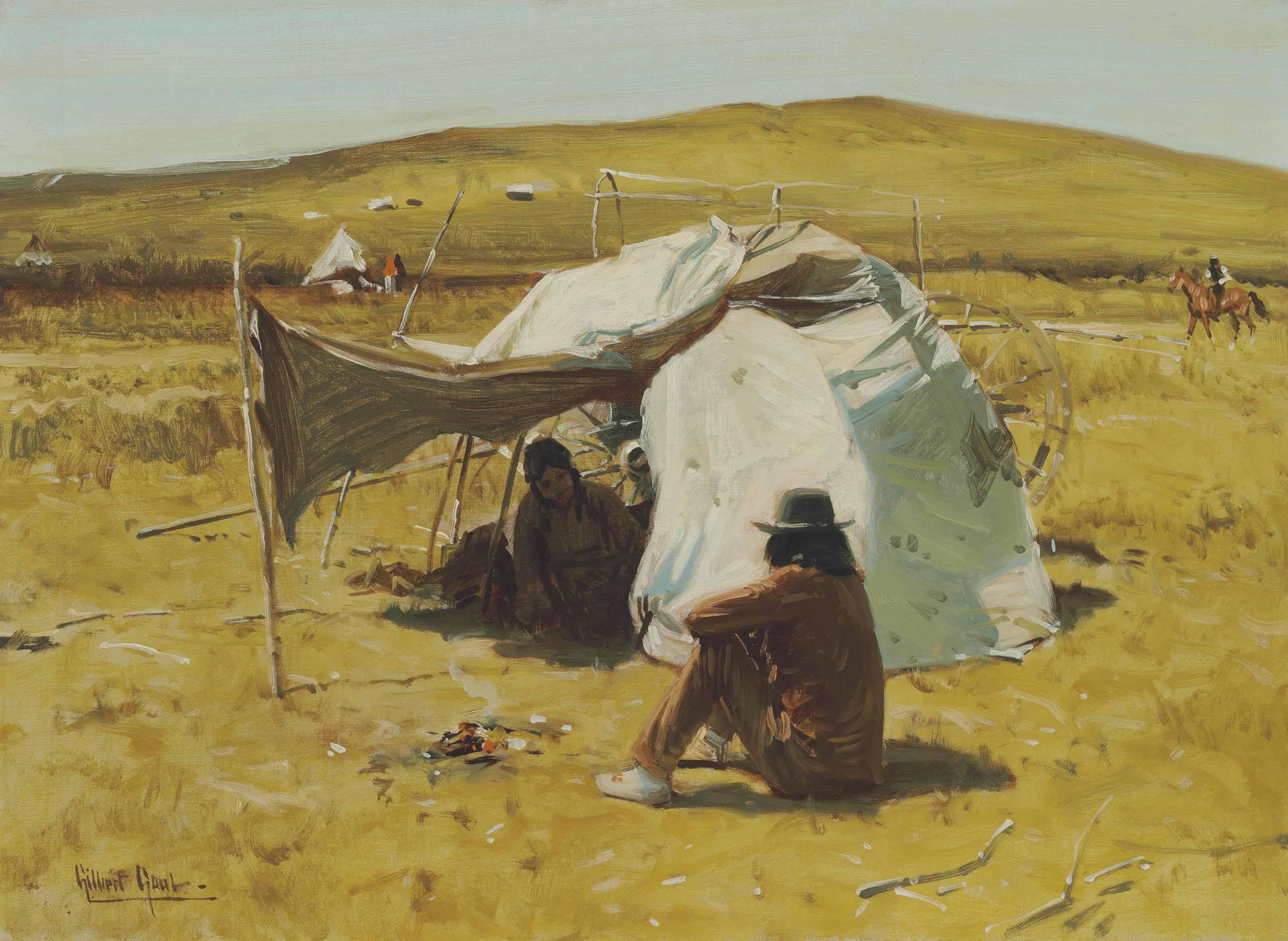 Indian Hogan on the Plains
