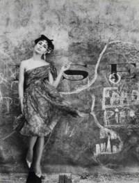 Model and Graffiti, Paris (Vogue), 1961