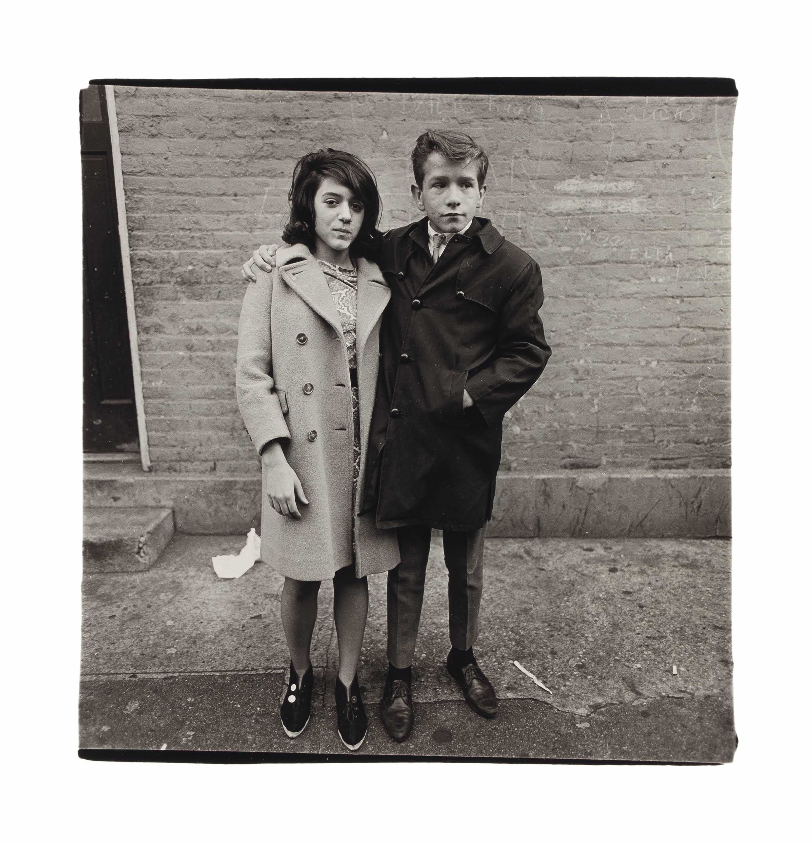 Teenage Couple on Hudson Street, N.Y.C., 1963