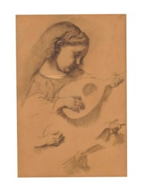 Study of a girl with lute
