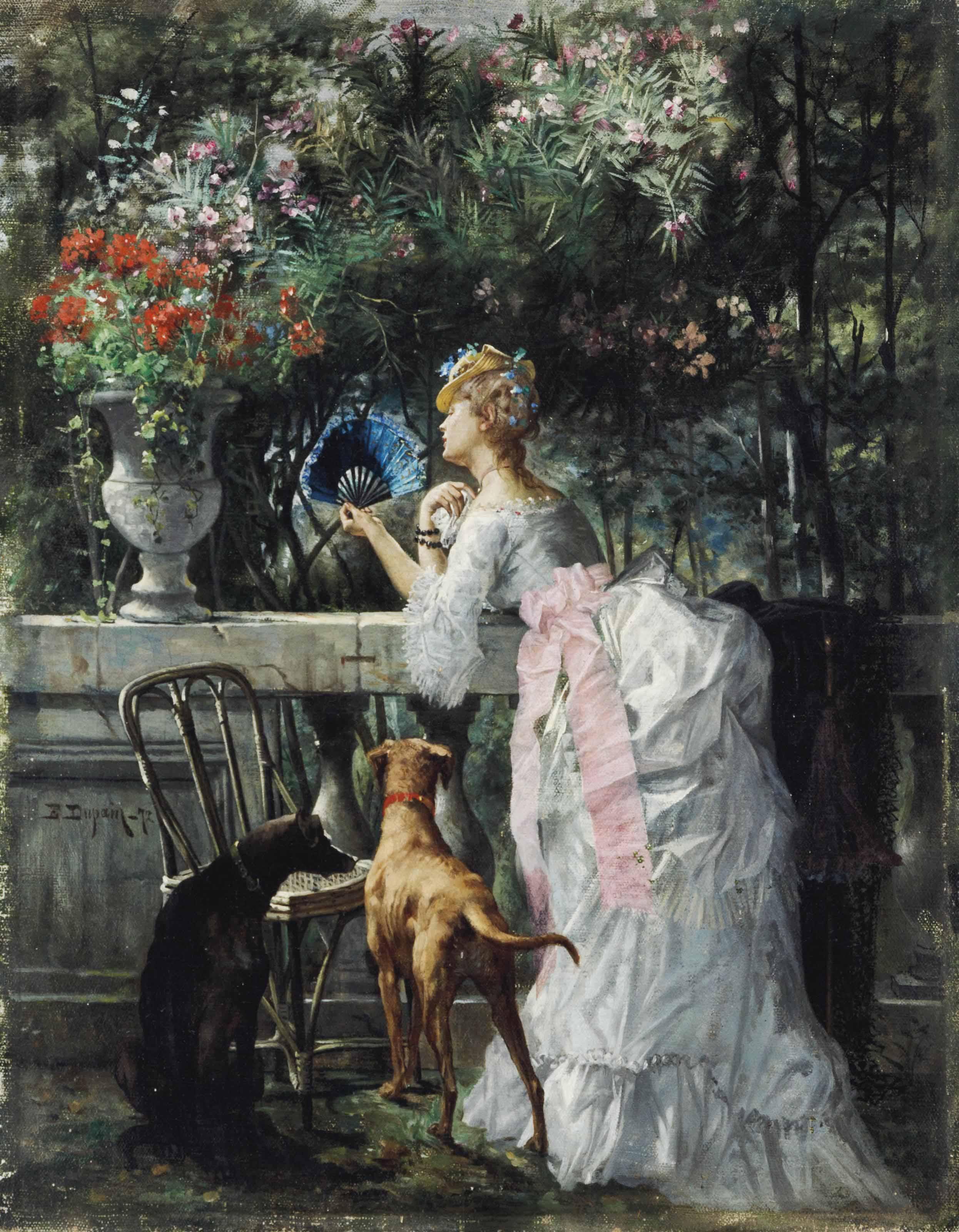 Femme dans le parc avec les chiens