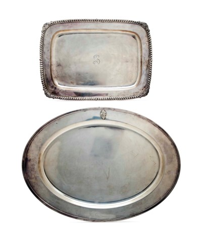 TWO AMERICAN SILVER SERVING PL