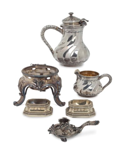 SIX FRENCH SILVER AND SILVER-G