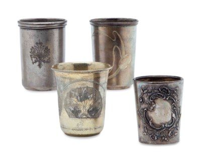 SIX RUSSIAN SILVER AND SILVER-