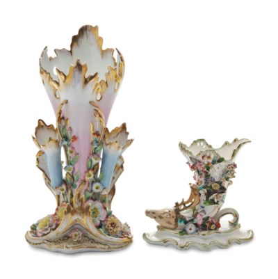 TWO PAIRS OF CONTINENTAL GILT
