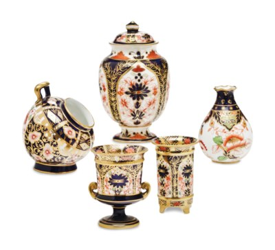 A GROUP OF ENGLISH PORCELAIN M