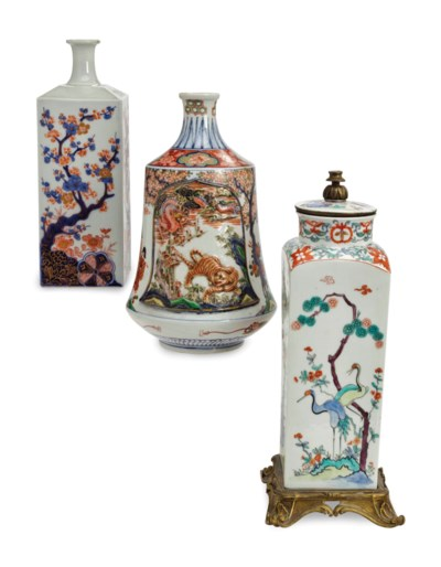 TWO JAPANESE IMARI VASES, AND