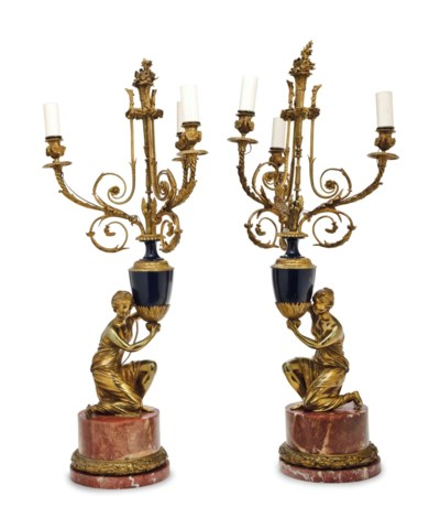 A PAIR OF FRENCH MARBLE, ORMOL
