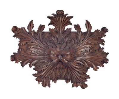 A CONTINENTAL FRUITWOOD ARCHIT