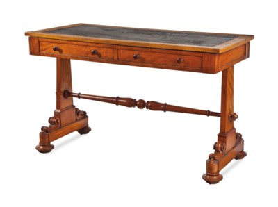 A GEORGE IV MAPLE LIBRARY TABL