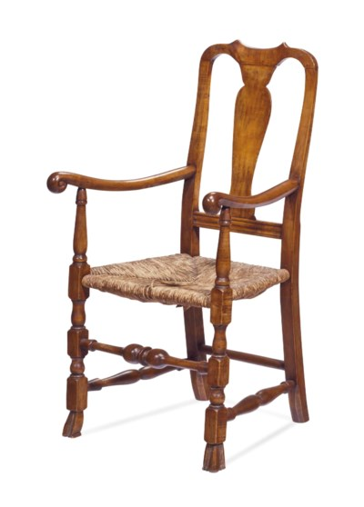 A QUEEN ANNE STYLE CHERRY WOOD