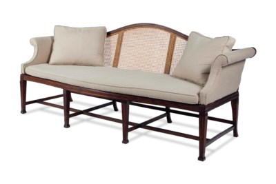 AN AMERICAN STAINED MAHOGANY A
