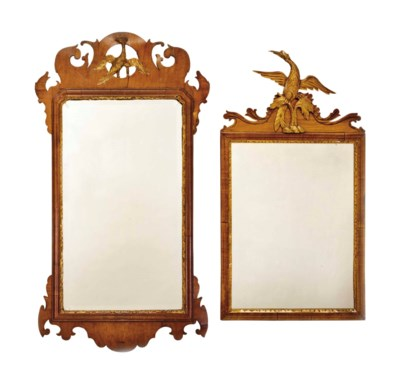 TWO MAHOGANY AND PARCEL GILT M