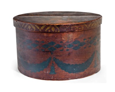 AN AMERICAN POLYCHROME-PAINTED