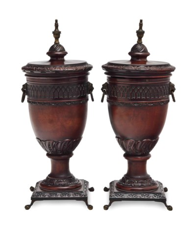 A PAIR OF GILT METAL MOUNTED M