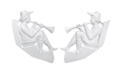 A PAIR OF WHITE-PAINTED FIGURA