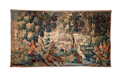 AN AUBUSSON TAPESTRY,