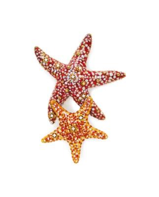 A DIAMOND AND ENAMEL STARFISH