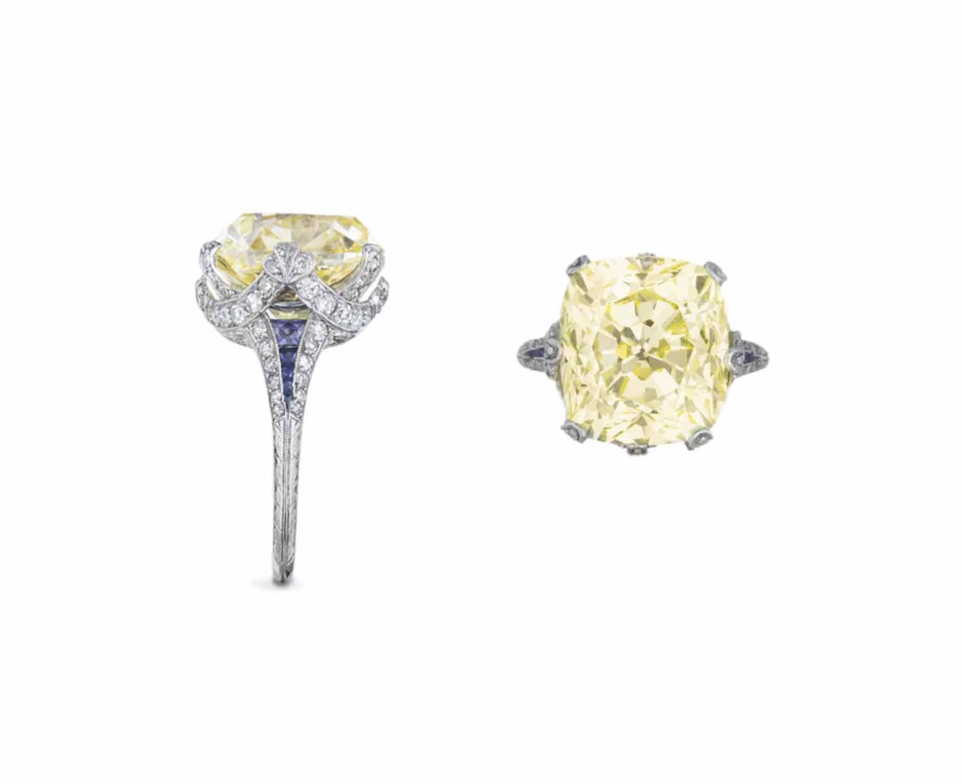 A BELLE ÉPOQUE COLORED DIAMOND