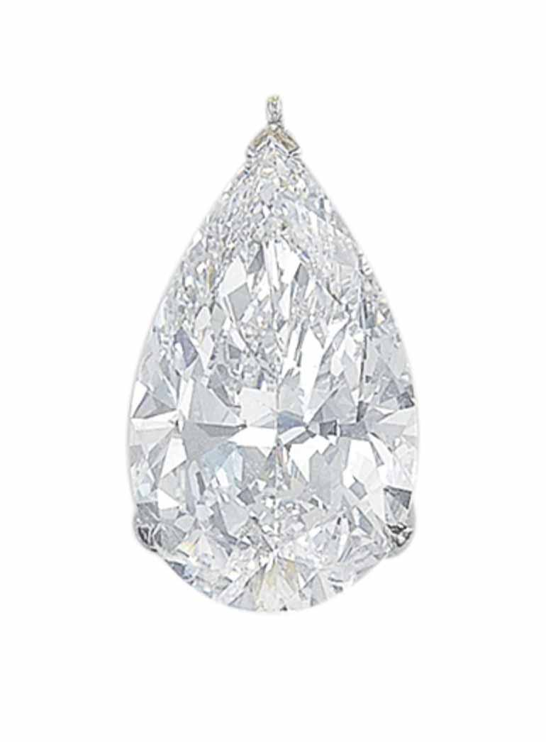 A DIAMOND PENDANT, BY GRAFF