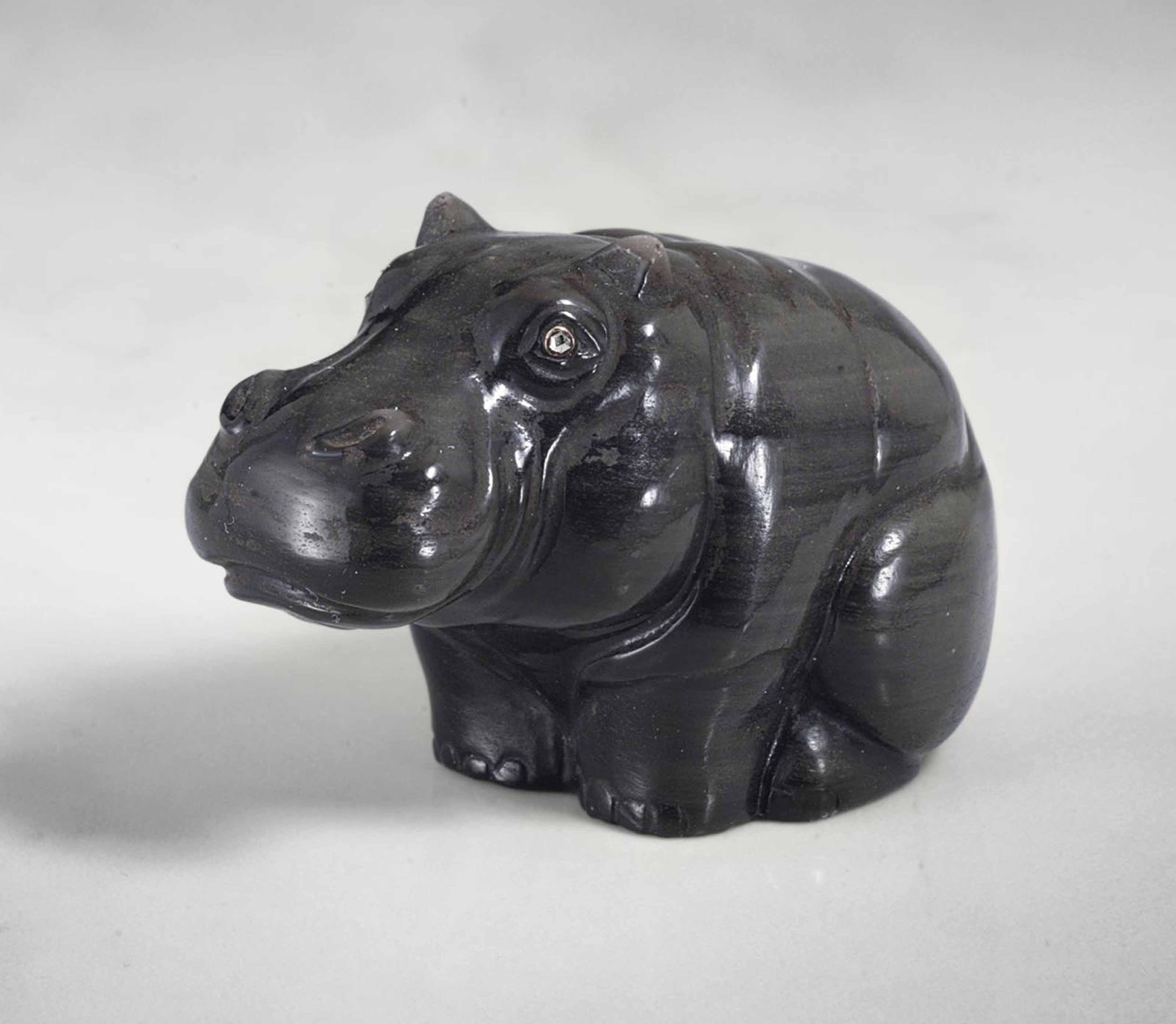 AN OBSIDIAN MODEL OF A HIPPOPO
