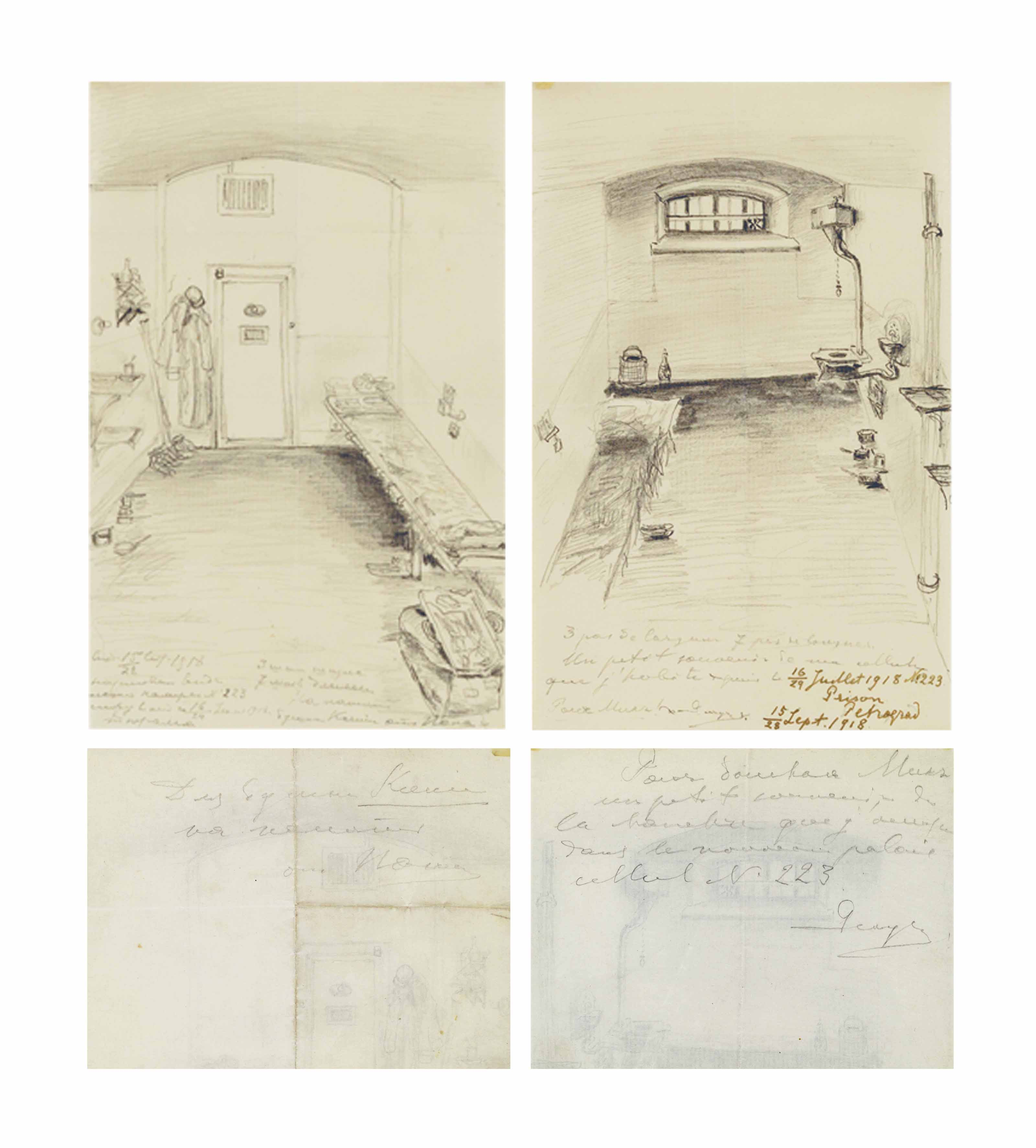 A LETTER AND DRAWING BY GRAND