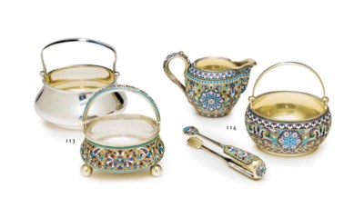 A SET OF TWO SILVER SUGAR-BOWL