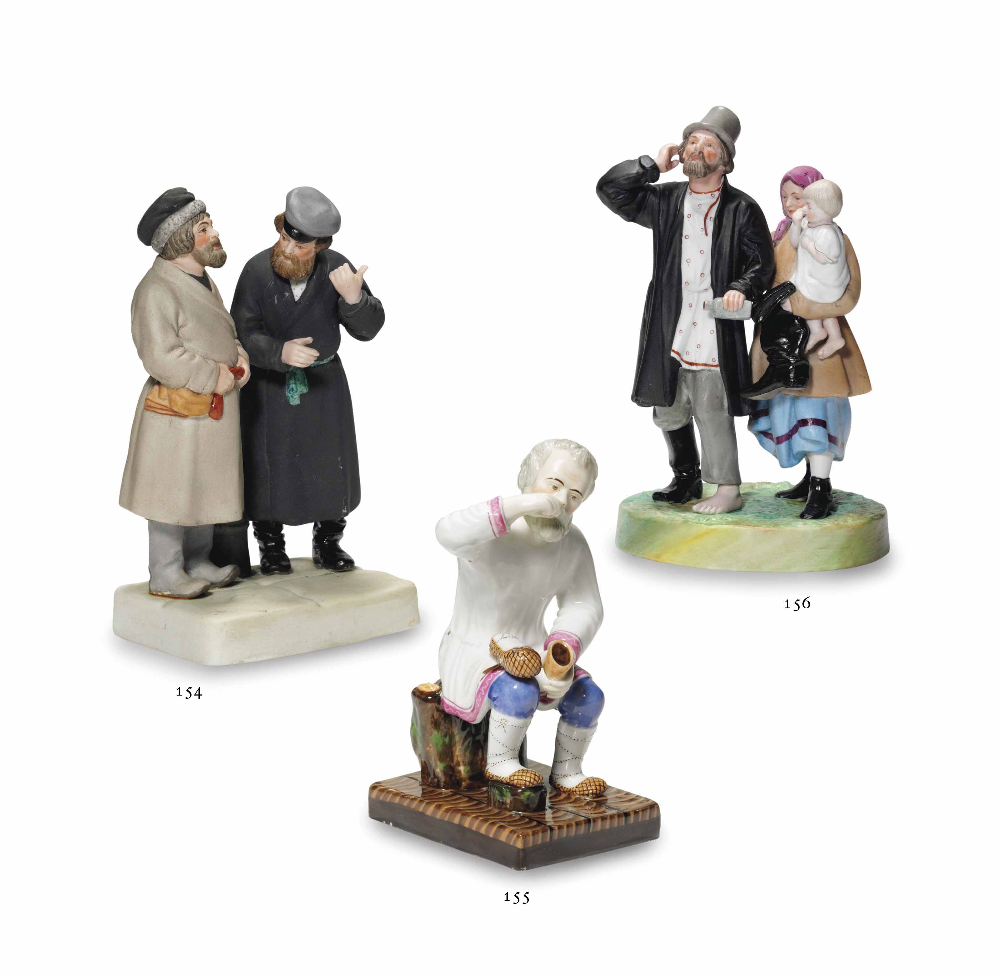 A PORCELAIN GROUP OF NEWLY ARR