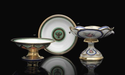 A PORCELAIN TAZZA FROM THE PET