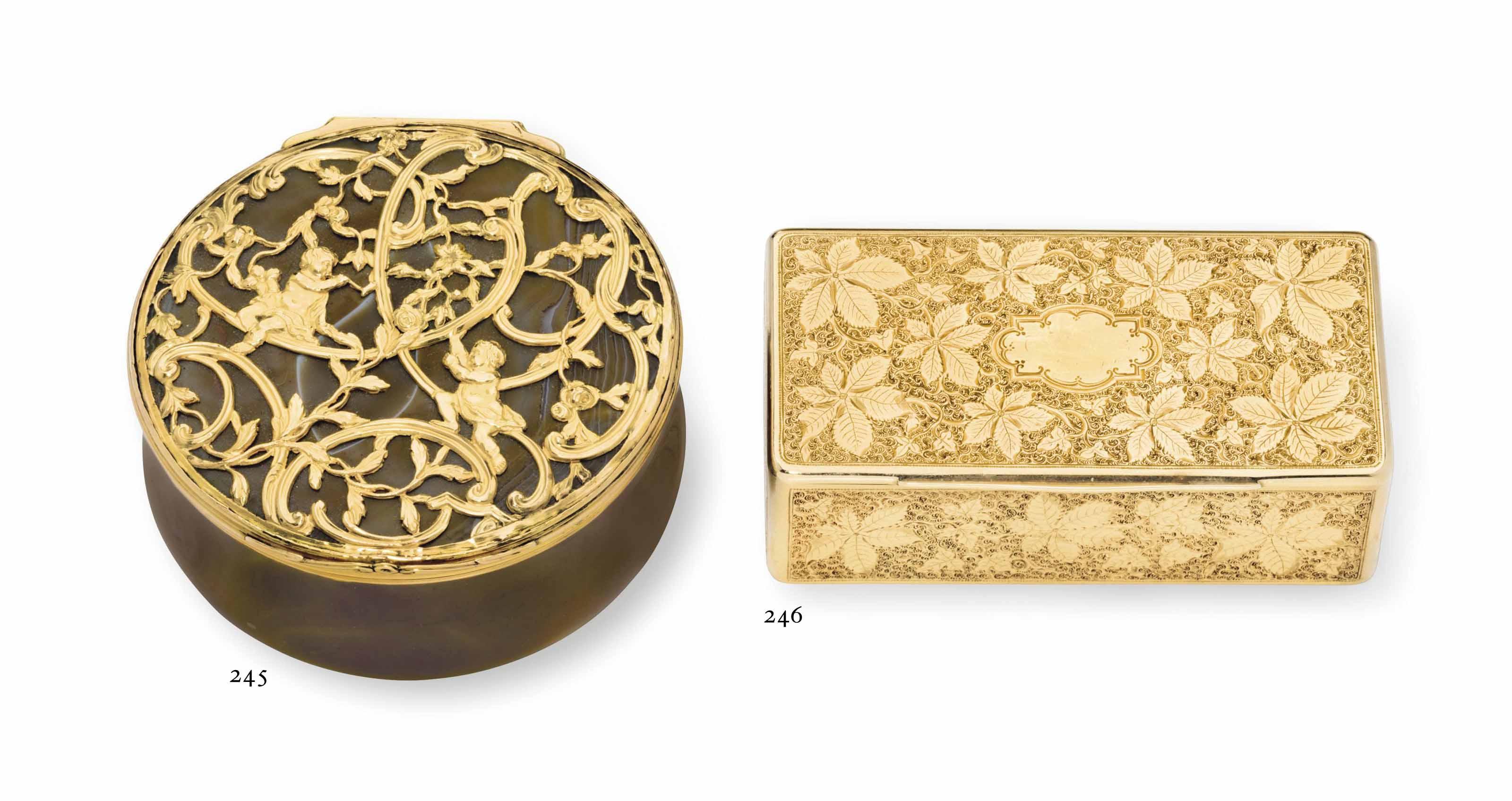 A GERMAN GOLD SNUFF BOX